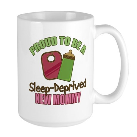 Sleep-Deprived Mom Large Mug
