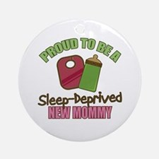 Sleep-Deprived Mom Ornament (Round)