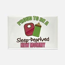 Sleep-Deprived Mom Rectangle Magnet (10 pack)