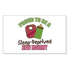 Sleep-Deprived Mom Rectangle Decal