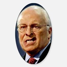 EVIL CHENEY - Oval Decal