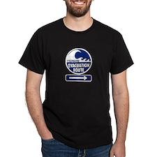 Tsunami Evacuation Route Black T-Shirt