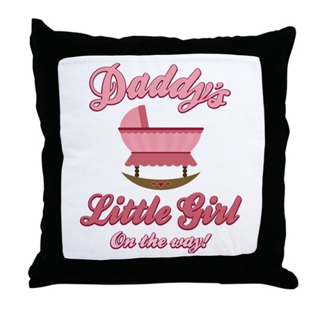 Daddy's Girl On Way Throw Pillow