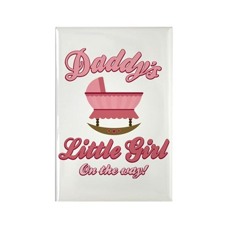 Daddy's Girl On Way Rectangle Magnet (100 pack)