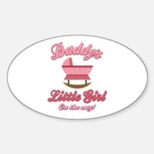 Daddy's Girl On Way Oval Decal