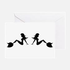 Mudflap Mermaid Greeting Card