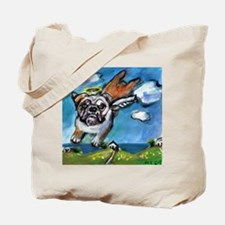 English Bulldog angel flys fr Tote Bag