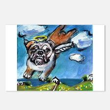 English Bulldog angel flys fr Postcards (Package o