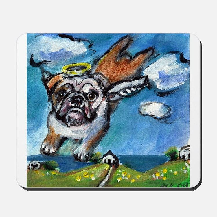 English Bulldog angel flys fr Mousepad