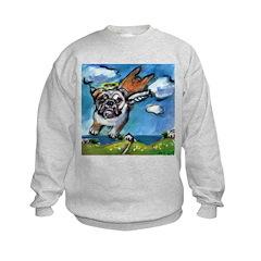 English Bulldog angel flys fr Sweatshirt