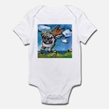 English Bulldog angel flys fr Infant Bodysuit