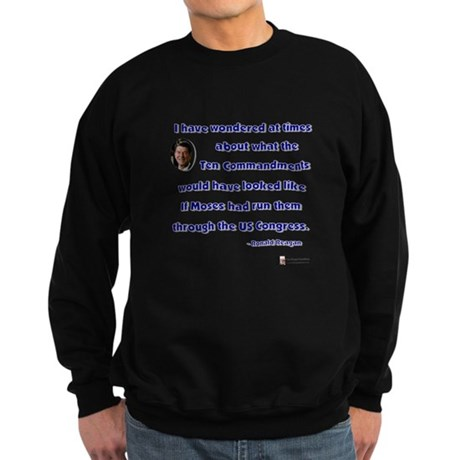 Reagan 10 Commandments Sweatshirt (dark)