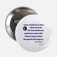"Reagan 10 Commandments 2.25"" Button"