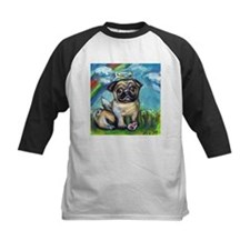Pug angel dog with pink kon Tee