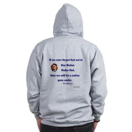 Reagan Nation Under God Zip Hoodie