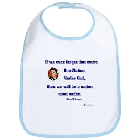 Reagan Nation Under God Bib