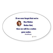 Reagan Nation Under God Oval Decal