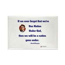 Reagan Nation Under God Rectangle Magnet