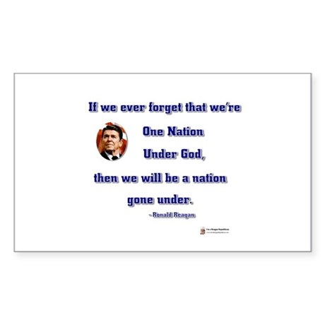 Reagan Nation Under God Rectangle Sticker