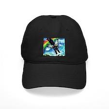 Black Labrador flys free Baseball Hat