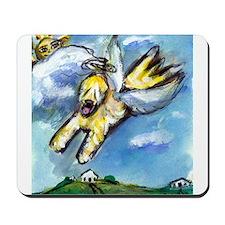 Wheaten terrier angel flys fr Mousepad
