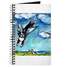 Boston Terrier angel flys fre Journal