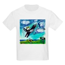 Black cat angel flys free T-Shirt