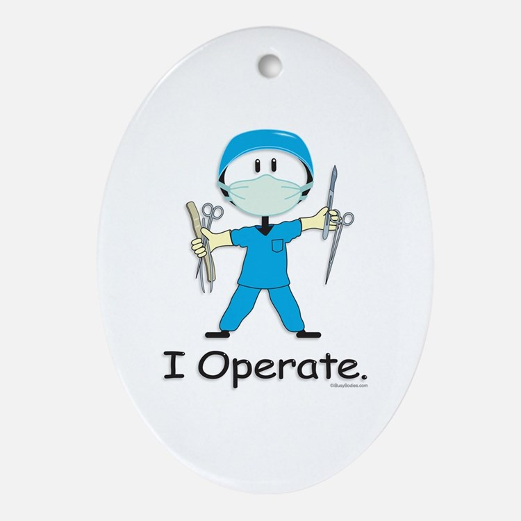 BusyBodies Surgeon Oval Ornament