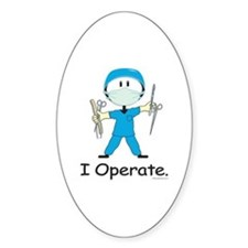 BusyBodies Surgeon Oval Decal