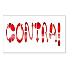 Contra! Contra Dance! Rectangle Decal