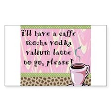 Cafe Vodka Latte Rectangle Decal