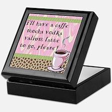 Cafe Vodka Latte Keepsake Box