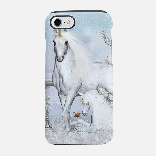 Winter Robins and Unicorns iPhone 7 Tough Case