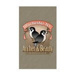 Archer & Beauty Rectangle Sticker 50 pk)