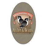 Archer & Beauty Oval Sticker (50 pk)