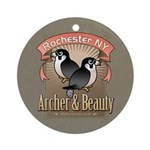 Archer & Beauty Ornament (Round)