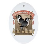 Archer & Beauty Ornament (Oval)