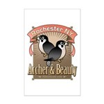 Archer & Beauty Mini Poster Print