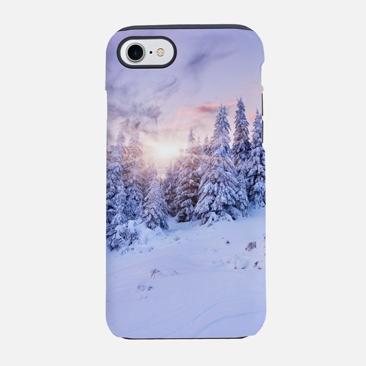 Winter Pine Forest iPhone 7 Tough Case