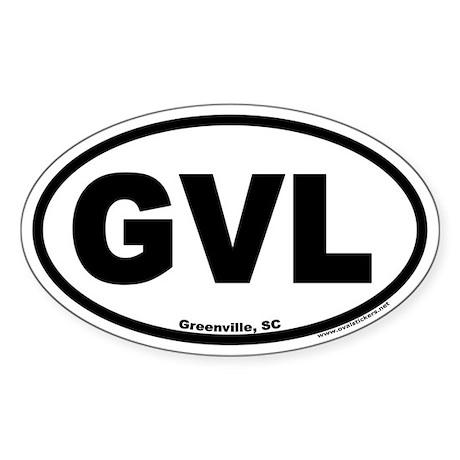 Greenville South Carolina GVL Euro Oval Sticker