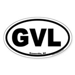 Greenville South Carolina GVL Euro Oval Sticker
