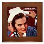 Become a Nurse Framed Tile