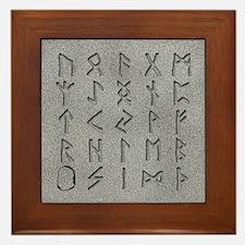 Viking Rune Stones Framed Tile