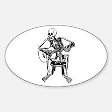 Busker Bones Oval Decal