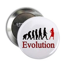 "Girl Power Human Evolution 2.25"" Button"