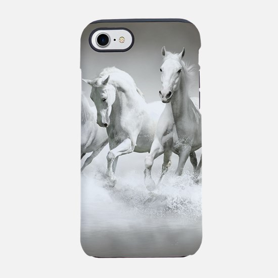 Wild White Horses iPhone 7 Tough Case