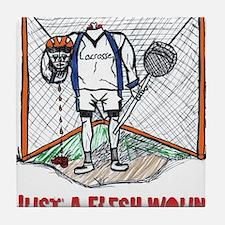 Lacrosse Goalie Fleshwound Tile Coaster