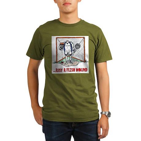 Lacrosse Goalie Fleshwound Organic Men's T-Shirt (