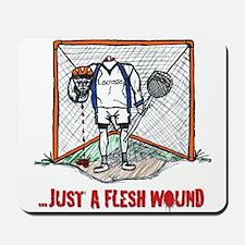 Lacrosse Goalie Fleshwound Mousepad