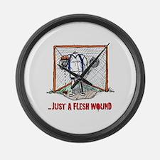 Lacrosse Goalie Fleshwound Large Wall Clock